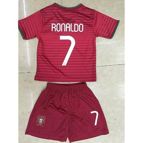 2014 Cristiano Ronaldo Home Portugal Football Soccer Kids Jersey & Short