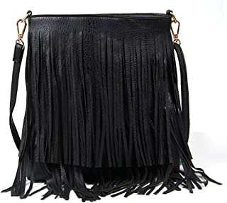 Women Fringe Tassel Cross Body Bag Leisure Shoulder Bag