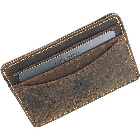 Visconti Slim Collection Razor Leather Credit Card Holder VSL25 Oil Tan