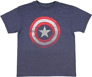 Marvel Captain America Boys' Shirt Defensive Shield Logo T-Shirt