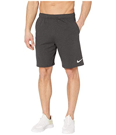 Nike Dri-FIT Training Shorts (Black Heather/White) Men