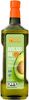 Betterbody Foods 100% Pure Avocado Oil Naturally Refined Cooking Oil Non-Gmo (1 Liter) 33.8 Oz, Keto & Paleo Friendly