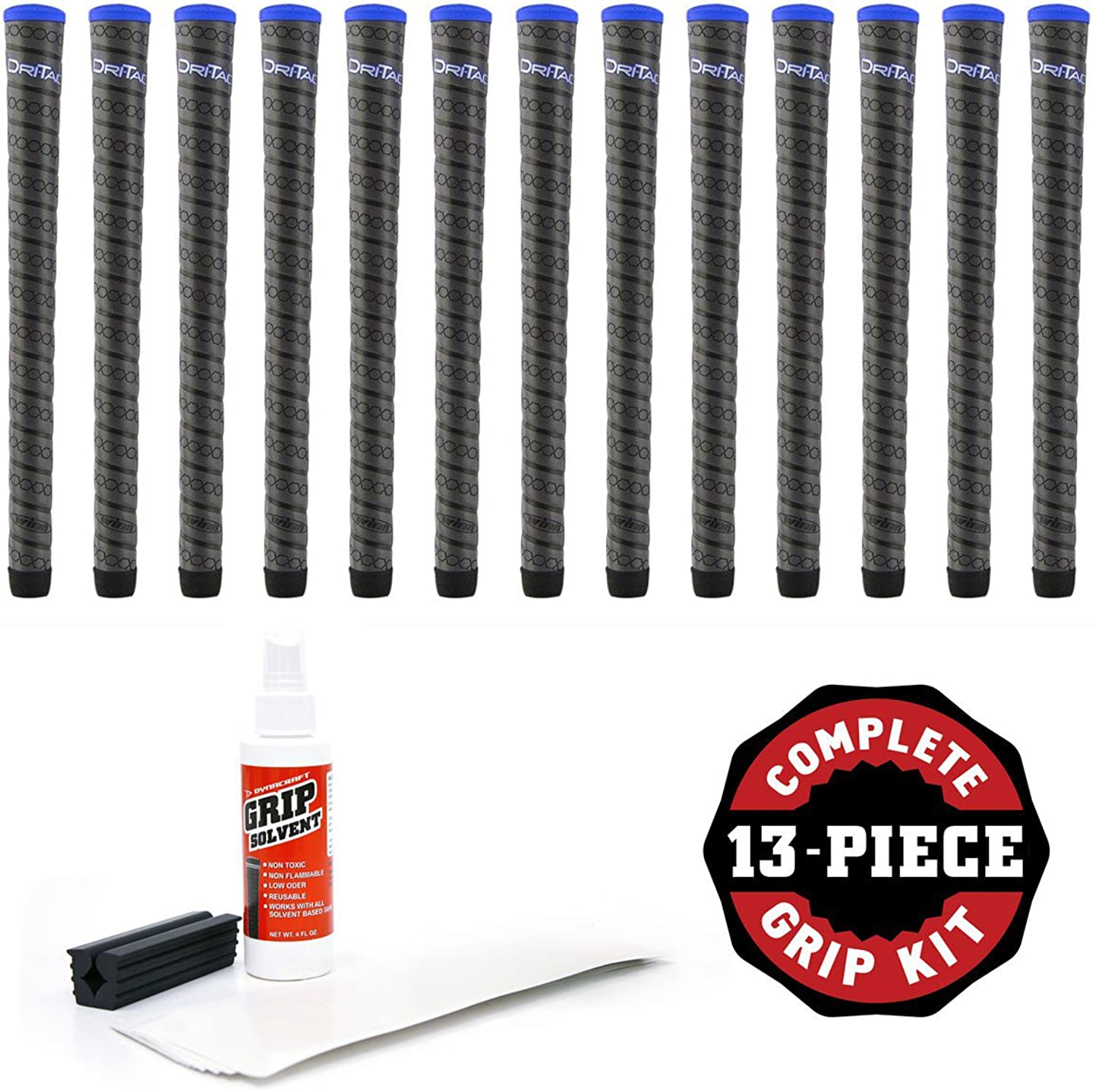 Winn DriTac Wrap Grip Kit with Tape Solvent and Vise Clamp (13Piece) Midsize 16