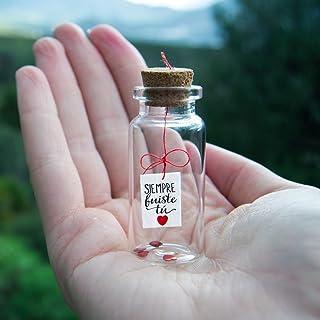 Siempre fuiste tu. It was always you. Te quiero. Mensaje en una botella. Miniaturas. Regalo personalizado. Divertida posta...