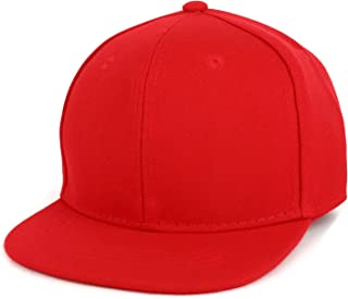 Infant to Toddler Kid's Plain Structured Flatbill Snapback Cap