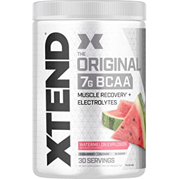 XTEND Original BCAA Powder Watermelon Explosion | Sugar Free Post Workout Muscle Recovery Drink with Amino Acids | 7g BCAAs for Men & Women | 30 Servings