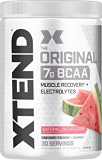 XTEND Original BCAA Powder Watermelon Explosion - Sugar Free Post Workout Muscle Recovery Drink with Amino Acids - 7g BCAA...