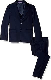 Jodano Boy's Formal 3 Piece (Jacket Vest Pants) Natural Stretch Slim Fit Dress Suit Set - Colors