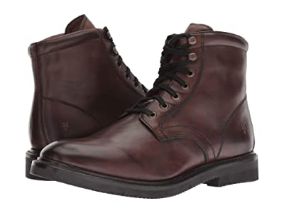 Frye Gordon Lace-Up (Dark Brown Hammered Dip-Dye Leather) Men