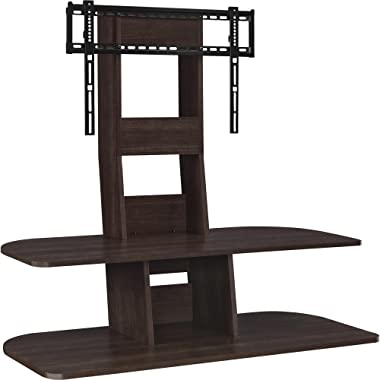 "Ameriwood Home Galaxy TV Stand with Mount for TVs up to 65"" Wide, Espresso"