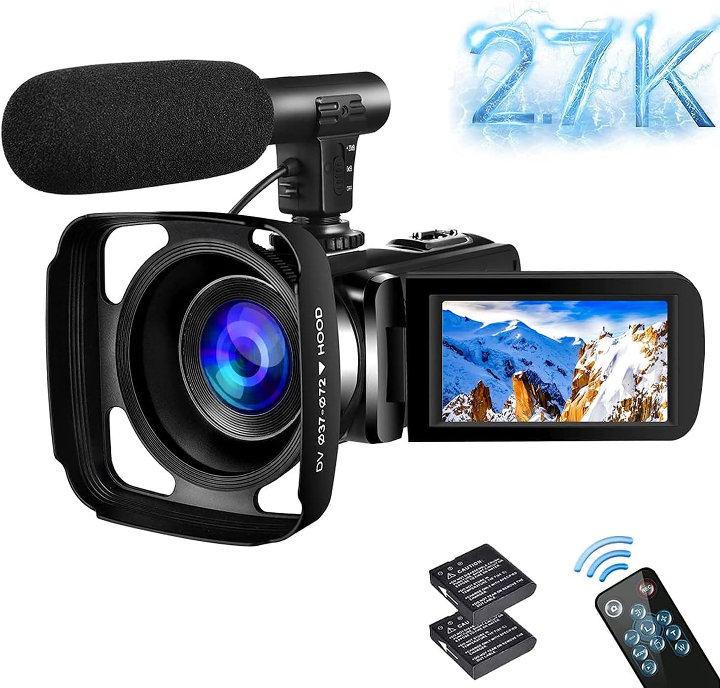 Sauleoo 30MP 2.7K HD  Digital Camcorder $39.99 Coupon