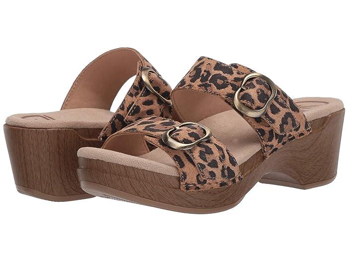 70s Shoes, Platforms, Boots, Heels Dansko Sophie Leopard Womens Sandals $119.95 AT vintagedancer.com