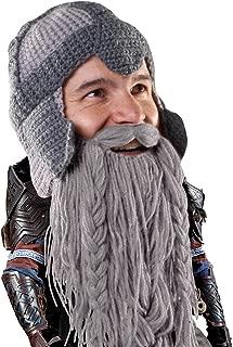 Dwarf Warrior Beard Beanie - Epic Knit Dwarf Helmet and Fake Beard
