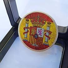IMPACTO COLECCIONABLES Monedas de España - 5 Pesetas acuñada en Plata Entre 1871 y 1892, con aplicación en Color - Edición Coleccionista