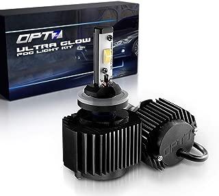 OPT7 H3 Ultra Glow LED Fog Light Bulbs - 6000K Lighting White @ 1,400 Lm per Bulb - Free Warranty (Pack of 2)