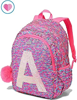 63359b26a75 Justice School Backpack Flip Sequin Fearless Shaky Initial (Letter T)