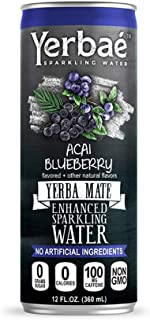 Yerbae Sparkling Water – Acai Blueberry Fruit Flavored Seltzer with Caffeine, Antioxidants, Yerba Mate Natural Energy Drin...