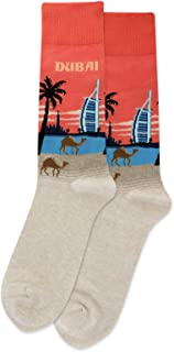 HotSox Dubai Socks, Coral, 1 Pair, Men Shoe 6-12.5