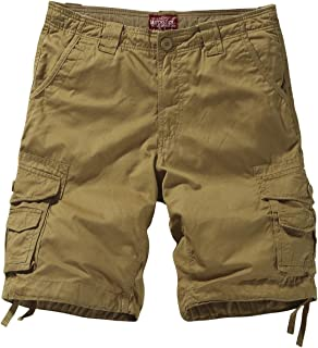 Match Men's Loose Fit Multi Pocket Cotton Twill Summer Cargo Shorts #S3612