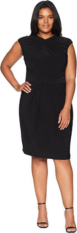 Plus Size Matte Jersey Sheath Dress