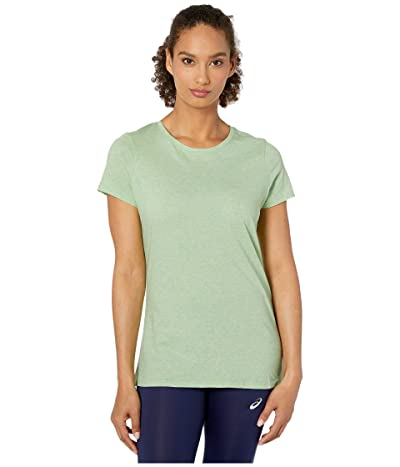 PACT Organic Cotton Featherweight Crew Neck Tee (Mint Glow Heather) Women