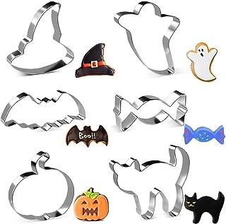 joyoldelf Emporte Piece Halloween, 6PCS Moule à Biscuits en Acier Inoxydable pour Gâteau, Cookie, Fondant, Pâtisserie, Hal...