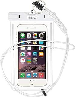 EOTW Funda Impermeable IPX8 Universal para Deportes acuaticos para iPhone XS MAX XR 8 7 6 Plus/BQ Aquaris/Huawei P30 P20 P10/Samsung S8 S7 y Otros Móviles hasta 7 Pulgadas. (Blanco)