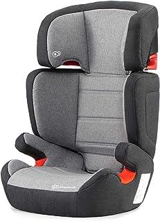 Kinderkraft Kinderautositz JUNIORFIX, Autokindersitz, Autositz, Kindersitz mit Isofix, Gruppe 2/3 15-36kg, Einstellbare Rückenlehne und Kopfstütze, ECE R44/04, Grau
