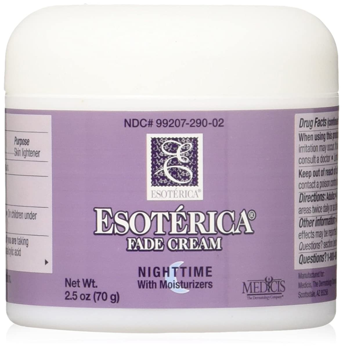 更新うま歌海外直送品Esoterica Fade Cream Nighttime With Moisturizers, 2.5 oz by Esoterica