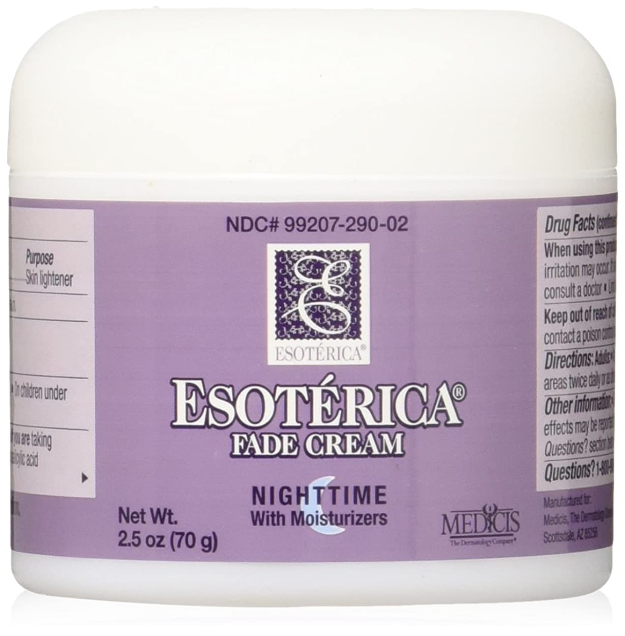 制限人里離れた通信する海外直送品Esoterica Fade Cream Nighttime With Moisturizers, 2.5 oz by Esoterica