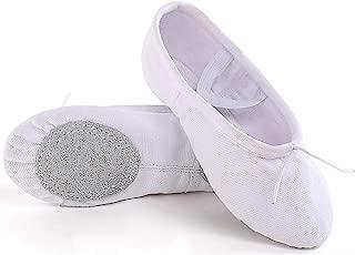 Ballet Shoes, Canvas Upper & Leather Sole Ballet Slippers, Ballet Dance Shoes for Girls (Toddler/Little Kid/Big Kid/Women)