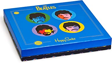 Happy Socks 6-Pack The Beatles LP Collectors Men's Socks Gift Box, Abbey Road