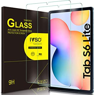 Samsung Galaxy Tab S6 lite 10.4 Screen Protector Glass, IVSO Premium 9H Hardness HD Tempered-Glass Film Screen Protector for Samsung Galaxy Tab S6 lite 10.4 inch Tablet, 2 Pack