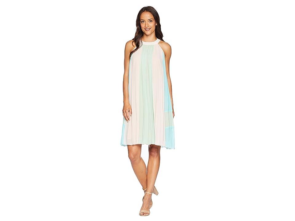 CATHERINE Catherine Malandrino Arore Dress (Pink/Lime/Angel Blue) Women