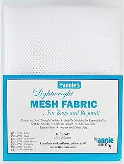 By Annie Mesh Fabric Lightweight 18x54 White