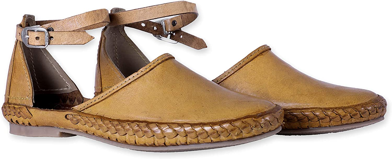 Desi Hangover Men's Pure Leather Handmade shoes Elle Natural