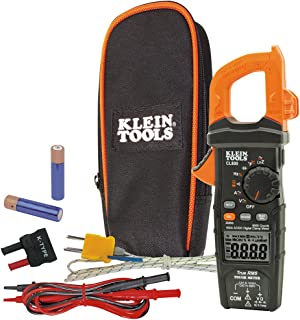 Klein Tools CL800 Electrical Tester, Digital Clamp Meter  AC / DC Auto-Ranging 600 Amp..