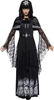 Ladies Deluxe Black Magic Mistress Wiccan Pagan Voodoo Halloween Fancy Dress Costume Outfit UK 8-22 Plus Size