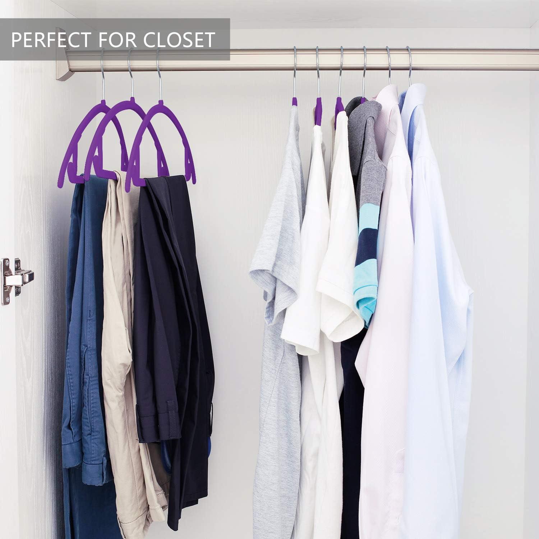 MIZGI Premium Velvet Hangers Heavyduty- Non Slip No Shoulder Bump Suit Hangers Pack of 50 Teal//Turquoise Chrome Hooks,Space Saving Clothes Hangers,Rounded Hangers for Coat,Sweater,Jackets,Pants