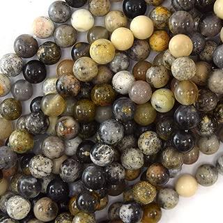 Natural Dendritic Moss Opal Round Beads 15.5