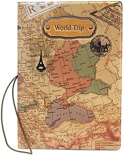 Portadocumentos de la Portada del Pasaporte de la PU del Estilo del Mapa del Mundo