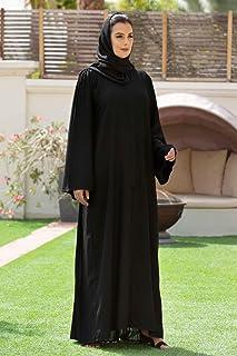 Nukhbaa abaya made with fine fabric, comes with matching Hijab.