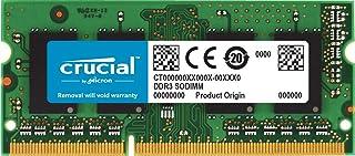 Crucial 4GB Single DDR3 1600 MT/s (PC3-12800) CL11 SODIMM 204-Pin 1.35V/1.5V Notebook Memory Module CT51264BF160B 2GB CT25...