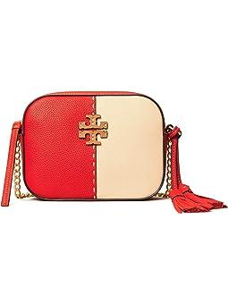 토리버치 맥그로우 컬러블록 카메라백 Tory Burch McGraw Color-Block Camera Bag,Brilliant Red/New Cream