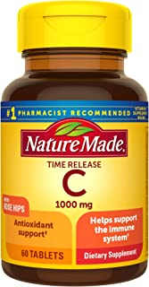 Nature Made Vitamin C 1000 mg Time Release Tablets with Rose Hips, 60 Count to Help Support the Immune System† (Pack of 3)