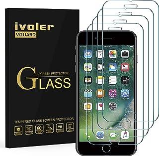 ivoler [4 Unidades] Protector de Pantalla para iPhone 8 Plus/iPhone 7 Plus/iPhone 6S Plus/iPhone 6 Plus, Cristal Vidrio Te...