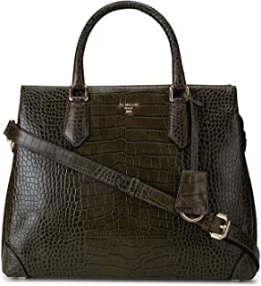 Green Textured Satchel Bag