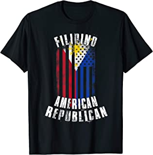 Filipino American Republican - Philippines USA Flag Combo T-Shirt