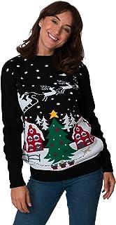 New Camp Ltd New Unisex Womens Mens Jumper Christmas Xmas Novelty Retro Fairisle Santa Party Sweater Jumpers Santa Night S...