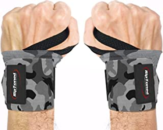 "Rip Toned Wrist Wraps 18"" Professional Grade with Thumb Loops - Wrist Support Braces for Men & Women - Weight Lifting, Xfi..."